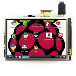 Ekran dotykowy rezystancyjny LCD IPS 3,5'' 480x320px GPIO dla Raspberry Pi 3/2/B+/Zero