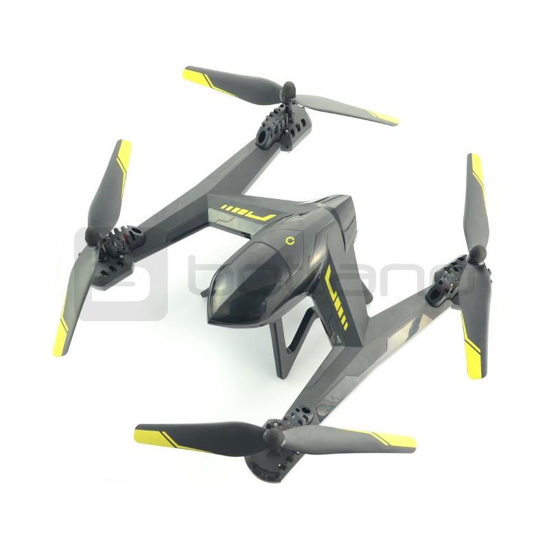 Dron quadrocopter OverMax X-Bee drone 5.5 FPV 2.4GHz z gimbalem i kamerą HD - 63cm + dodatkowy akumulator + ekran