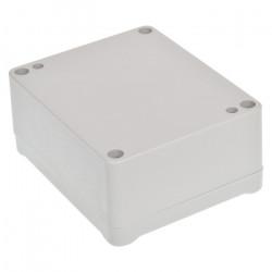 Obudowa plastikowa Kradex Z54JS ABS z uszczelką i mosiężnymi tulejkami - 89x75x41mm jasna