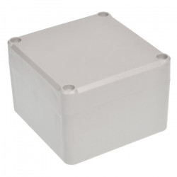 Plastic box Kradex Z111JS ABS with gasket and bushings - 82x80x55mm grey