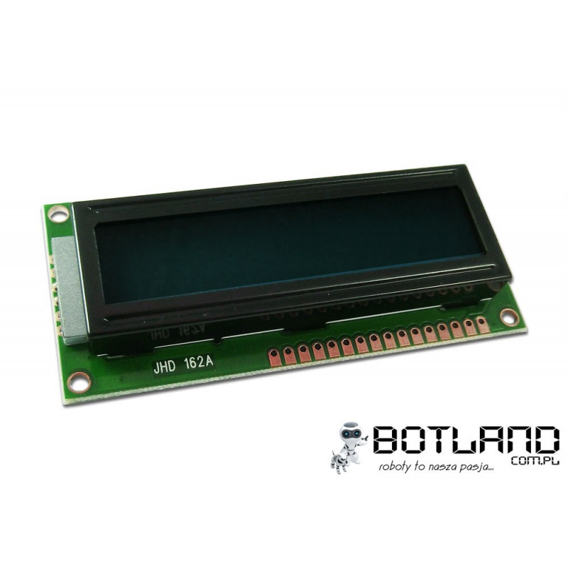 LCD display 2x16 characters black and green