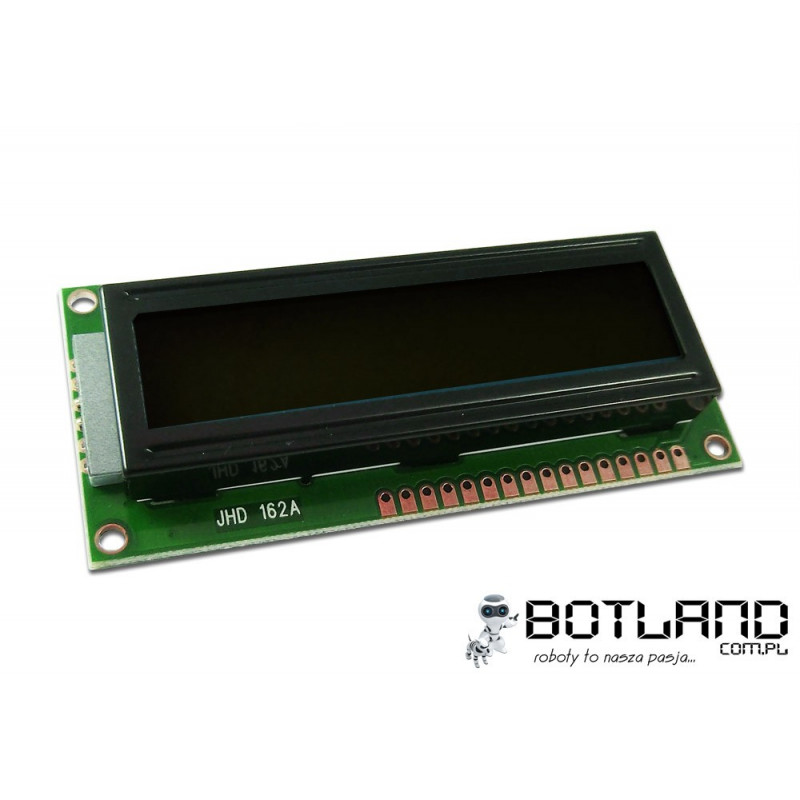 LCD display 2x16 characters black and orange