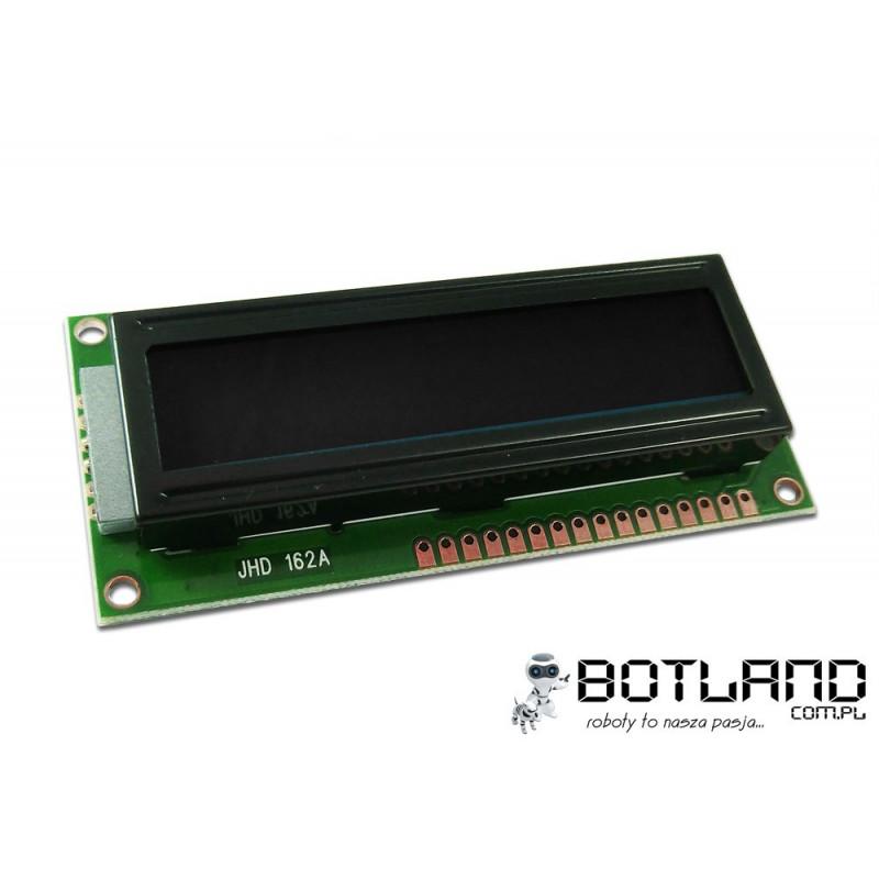 Wyświetlacz LCD 2x16 znaków szaro-granatowy