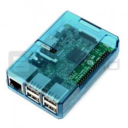 Obudowa niebieska otwarta dla raspberry pi - sbcomponents