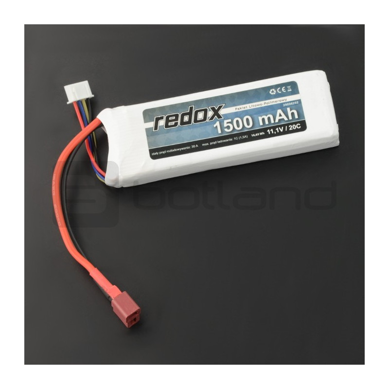 Pakiet Li-Pol Redox 1500mAh 20C 3S 11.1V