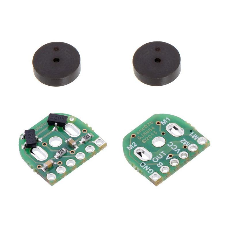 Zestaw enkoderów magnetycznych do micro silników Pololu (kompatybilne z HPCB) 2,7-18V - 2 szt.