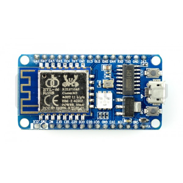Board with module WiFi RTL8710 - compatible with Arduino