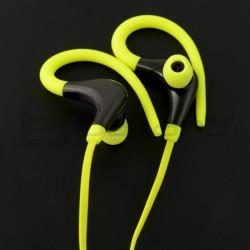 Słuchawki douszne bezprzewodowe z mikrofonem Art AP-BX61-G - limonkowe