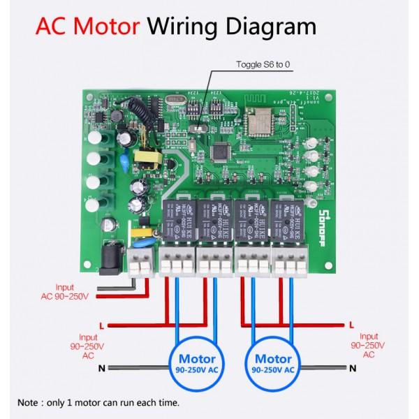 Sonoff 4CH Pro Rev2 WiFi / RF - 4-kanałowy przełącznik