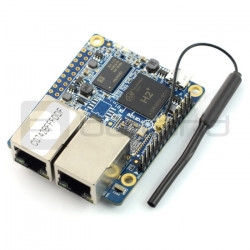 Orange Pi R1 - H2 Quad-Core 256MB RAM - 2x Ethernet + WiFi