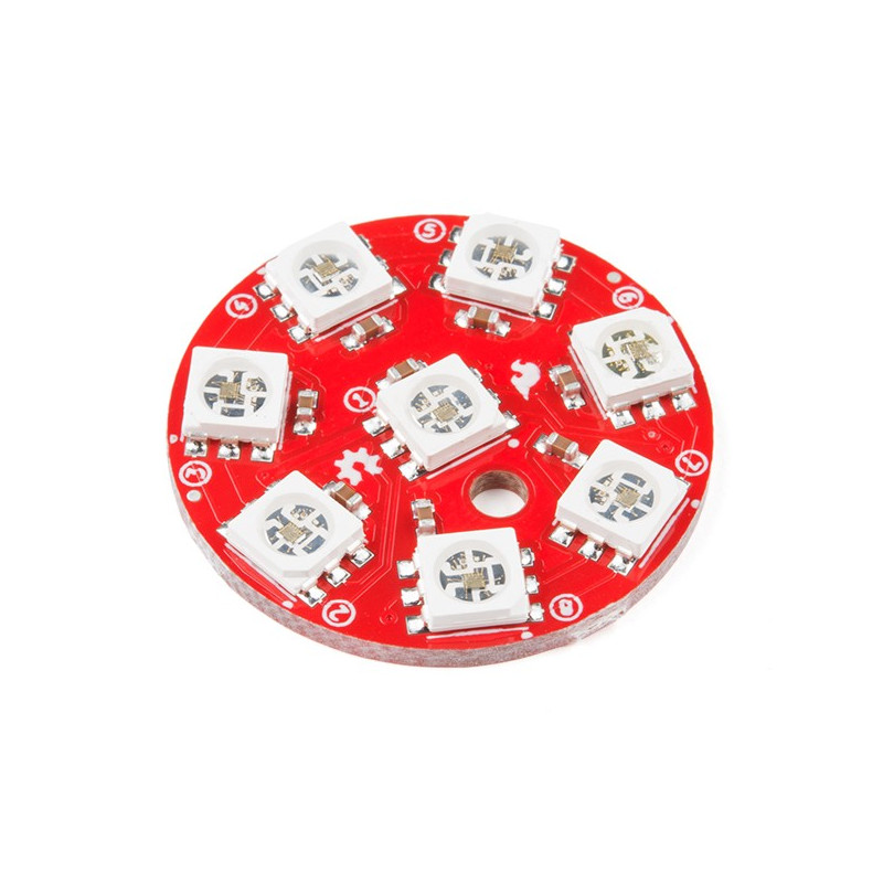 SparkFun Lumenati 8x LED RGB APA102C - digital, addressable_