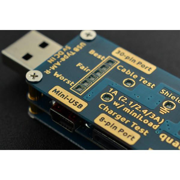 DFRobot qualMeter Basic - tester zasilaczy/ładowarek i przewodów USB