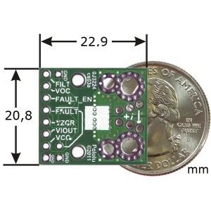 Wymiary modułu czujnik prądu ACS709 +/- 75A