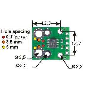 Moduł z czujnikiem prądu ACS711 +/- 12,5A