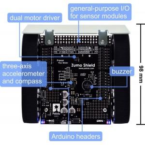 Edukacyjny robot walczący Zumo firmy Pololu