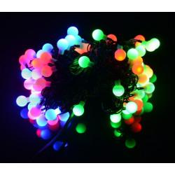 Lampki choinkowe LED kule - RGB - 80 szt.