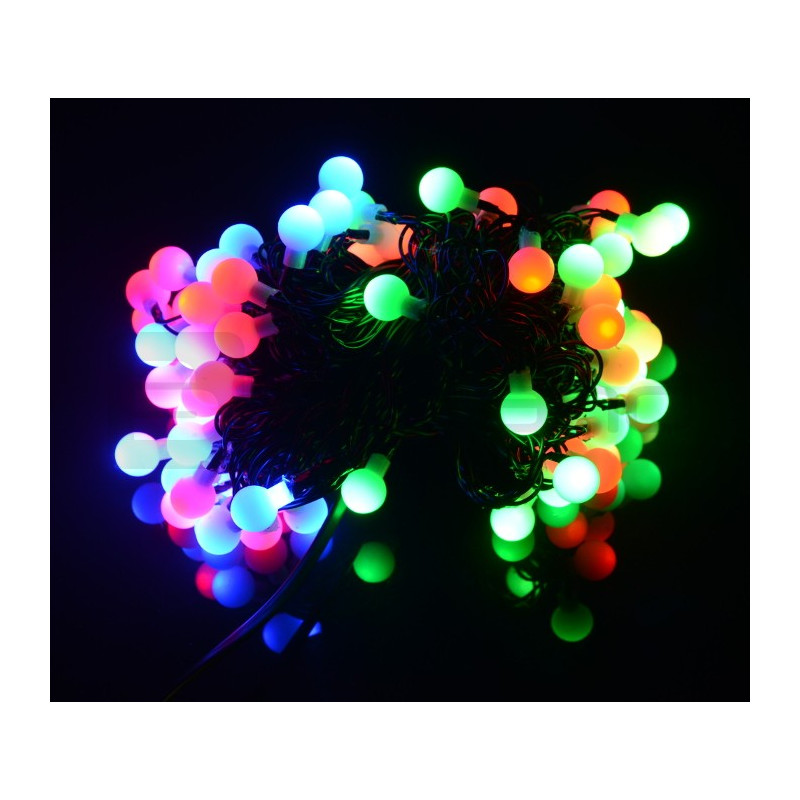 Rgb Led Christmas Lights.Led Christmas Tree Lights Balls Rgb 80pcs