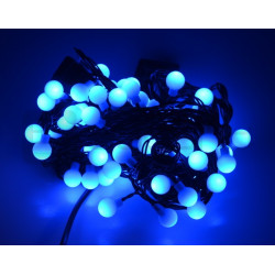 Lampki choinkowe LED kule - niebieskie- 80 szt.