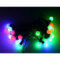 Lampki choinkowe LED kule - RGB - 40 szt.