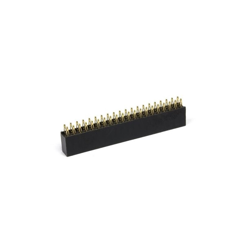 Female goldpin strip 2x20 raster 2,54mm for Raspberry Pi - without soldering_