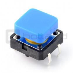 Tact Switch 12x12 mm z nasadką kwadratowy - niebieski