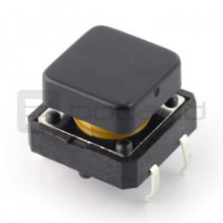 Tact Switch 12x12 mm z nasadką kwadratowy - czarny