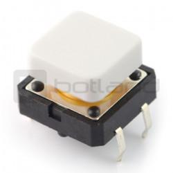 Tact Switch 12x12 mm z nasadką kwadratowy - biały