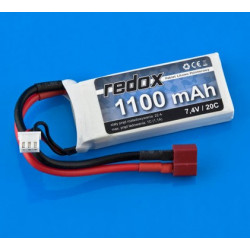 Pakiet LiPol Redox 1100 mAh 20C 7.4V