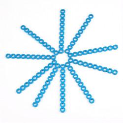 MakeBlock 84416 - Cuttable Linkage 080 - niebieski - 10szt.