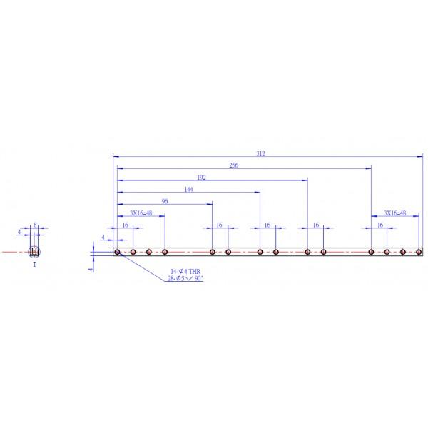 makeblock - �o�ysko z ko�nierzem 8x16x5mm