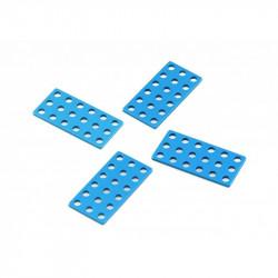 MakeBlock 61200 - płytka 3x6 - niebieski - 4szt.
