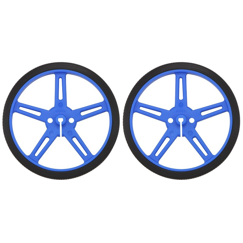 70x8mm Wheels - blue - Pololu 1428*