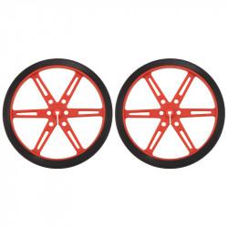 Koła Pololu 80x10mm - czerwone