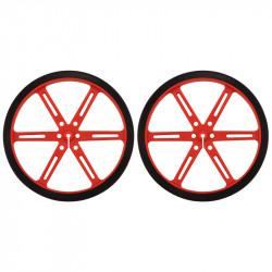 Koła Pololu 90x10mm - czerwone
