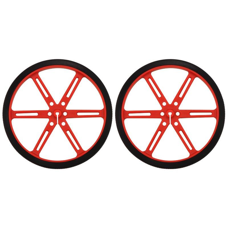 Pololu 90x10mm Wheels - red