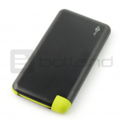 Slim Powerbank 8.0 (8.000 mAh), black, integrated connection cable