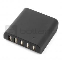 Zasilacz Goobay Intellignet 5x USB 5V 8A - czarny