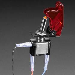 Przełącznik dźwigniowy ON-OFF 12V/20A podświetlany - czerwony