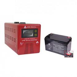 Zasilacz awaryjny UPS +AVR 12V Sinus-500Pro 12V/230V 500VA + akumulator 12V / 100Ah VRLA AGM