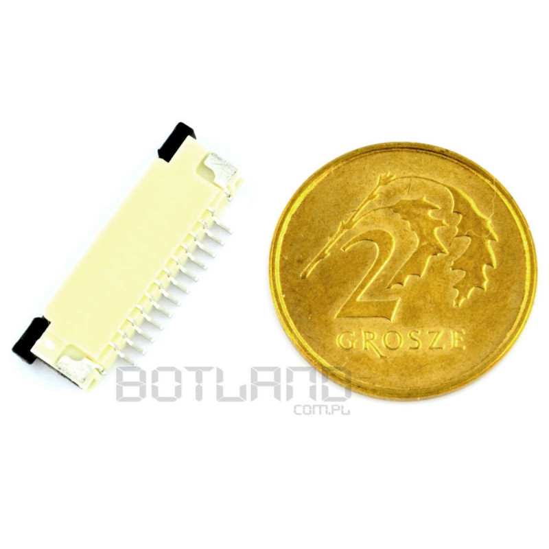 Connector: FFC / FPC ZIF 12 pin, pitch 1 mm