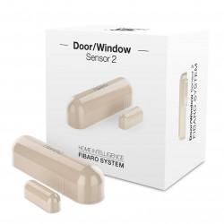 Fibaro Door/Window Sensor FGDW-002-4 - czujnik zbliżeniowy i temperatury Z-Wave - kremowy