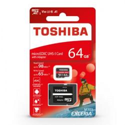 Karta pamięci Toshiba Exceria M303 microSD 64GB 98MB/s UHS-I klasa U3 z adapterem