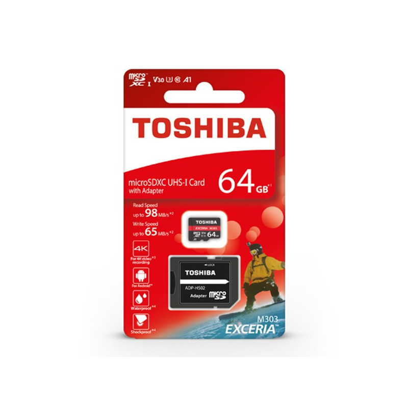 Memory Card Toshiba Exceria M303 Microsd 64gb 98mb S Uhs I U3