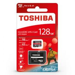 Karta pamięci Toshiba Exceria M303 microSD 128GB 98MB/s UHS-I klasa U3 z adapterem