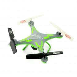Dron quadrocopter OverMax X-Bee drone 3.1 Plus Wi-Fi 2.4GHz z kamerą FPV szaro-zielony - 34cm + 2 dodatkowe akumulatory
