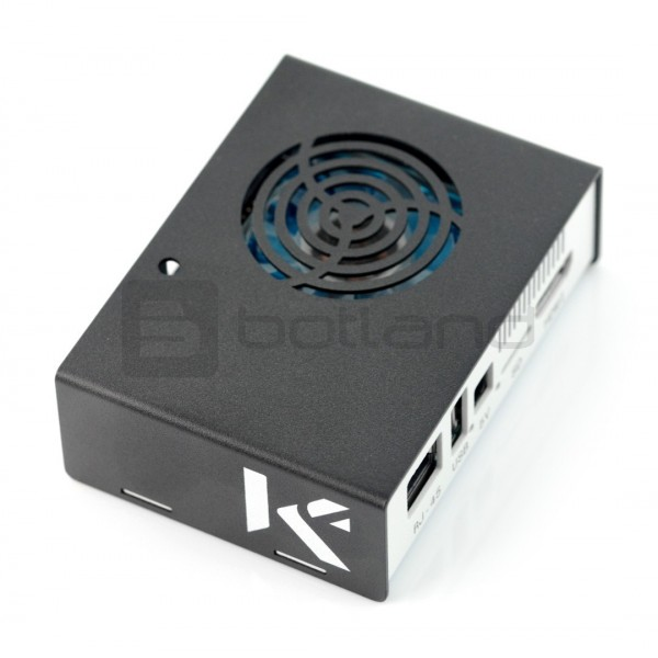 Genialny Obudowa do Odroid XU4 - metalowa czarno-biała - Sklep dla robotyków BA12