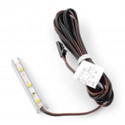 Oświetlenie LED do półek NSP-50 - 3diody, biały-neutralny - 12V / 0.24W