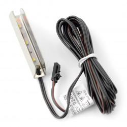 Oświetlenie LED do półek NSS60 - 3diody, biały-neutralny - 12V / 0.24W - stal nierdzewna