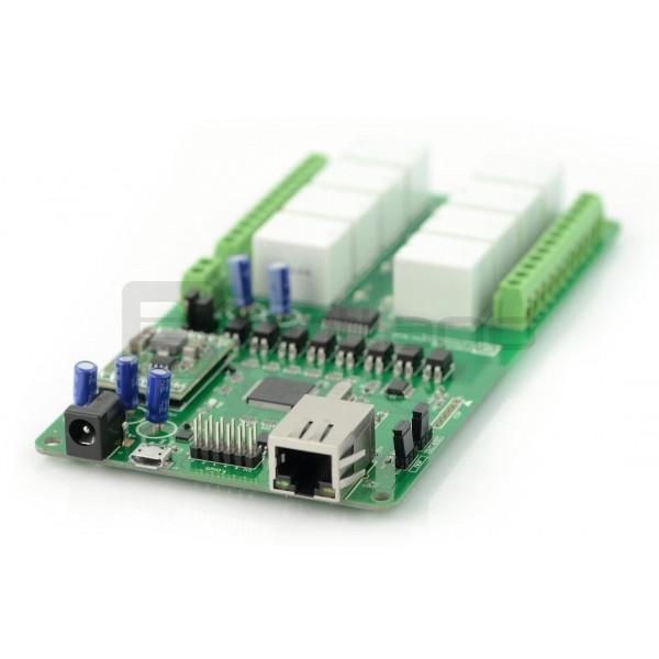 Numato Lab - 8-channel relay module 12V 7A / 240VAC + 10GPIO - Ethernet_