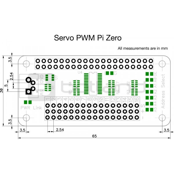 servo pwm pi zero pca9685 - 16-channel server